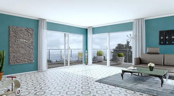 Với ý tưởng sơn tường màu đối lập, căn hô trở nên bắt mắt hơn