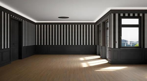 Căn hộ sơn tường màu đen, với cách phối màu hợp lý trở nên nổi bật, bắt mắt hơn