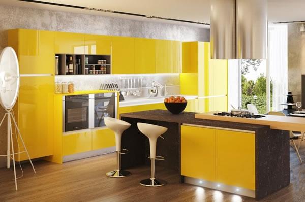 Màu sắc phòng bếp