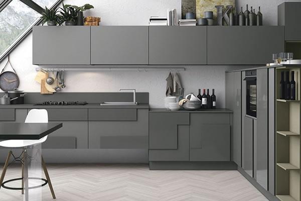 Căn bếp màu xám