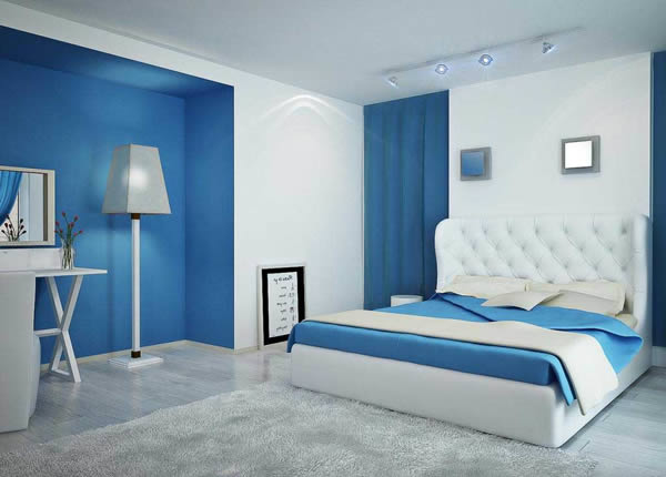 Sơn nội thất phòng ngủ màu xanh dương-1