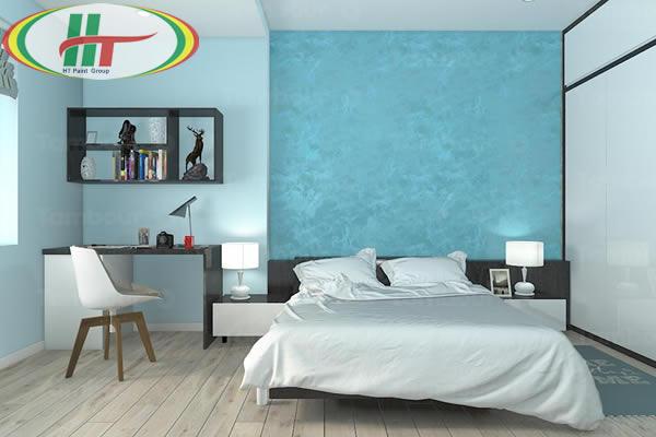 Phòng ngủ màu xanh lam ngọc