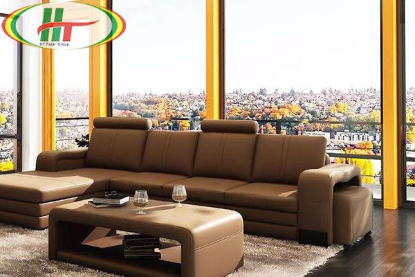 Gợi ý sơn nội thất phòng khách màu vàng chanh ấn tượng-2
