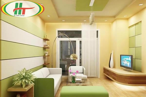 Gợi ý sơn nội thất phòng khách màu vàng chanh ấn tượng-5