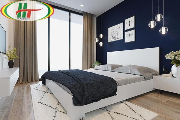 Phòng ngủ màu sắc tương phản