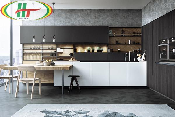 Cách sử dụng màu đen trong trang trí nội thất phòng bếp hiện đại