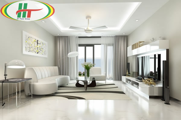 Không gian nhà màu trắng thư giãn nhẹ nhàng