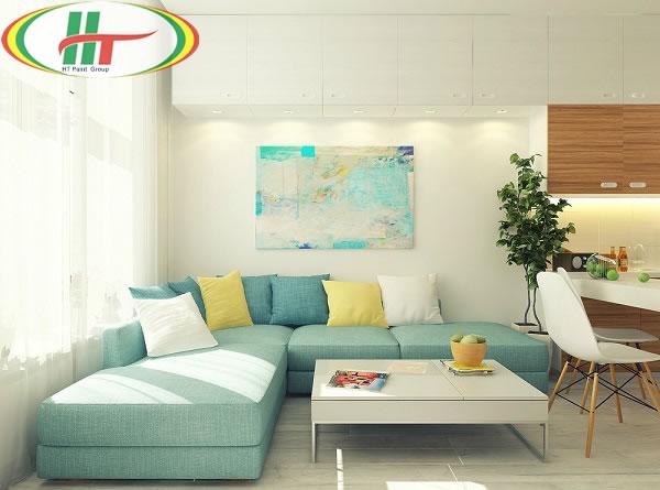 Tổng hợp cách sử dụng màu pastel trong trang trí nội thất phòng khách-1