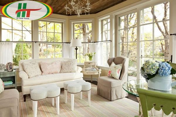 Tổng hợp cách sử dụng màu pastel trong trang trí nội thất phòng khách-3