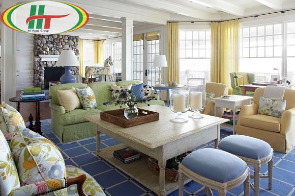 Tổng hợp cách sử dụng màu pastel trong trang trí nội thất phòng khách-5