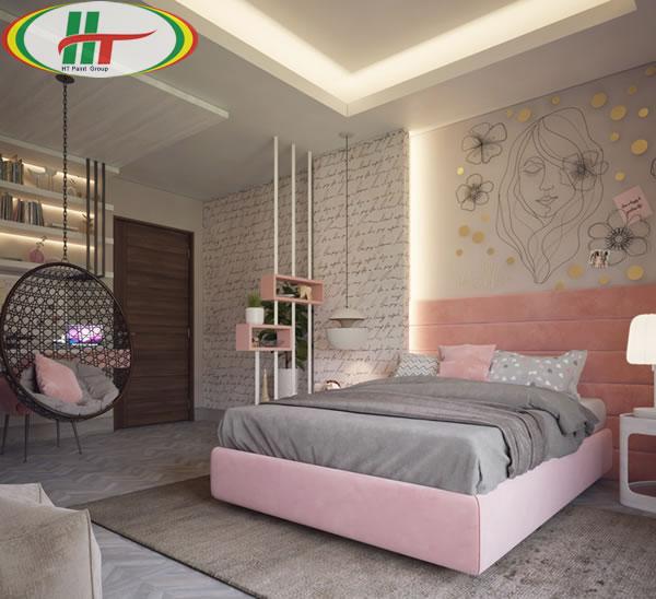 Những mẫu phòng ngủ đẹp với màu sắc nổi bật thiết kế ấn tượng dành cho nữ-1
