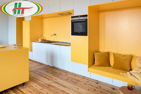 Ấn tượng với căn hộ trang trí nội thất màu vàng-2
