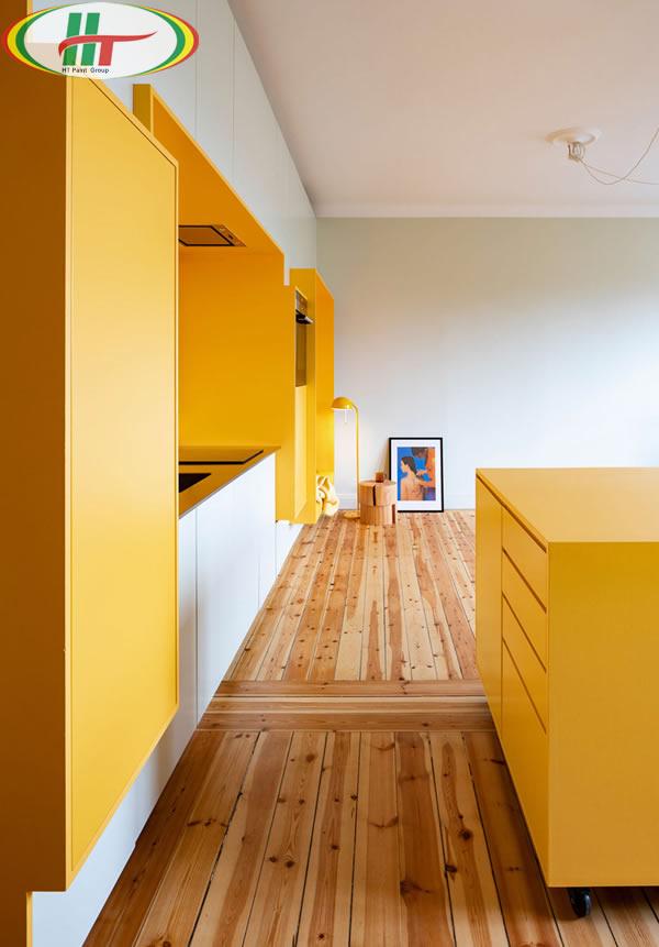 Ấn tượng với căn hộ trang trí nội thất màu vàng-4
