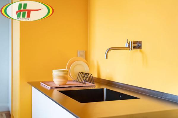 Ấn tượng với căn hộ trang trí nội thất màu vàng-5