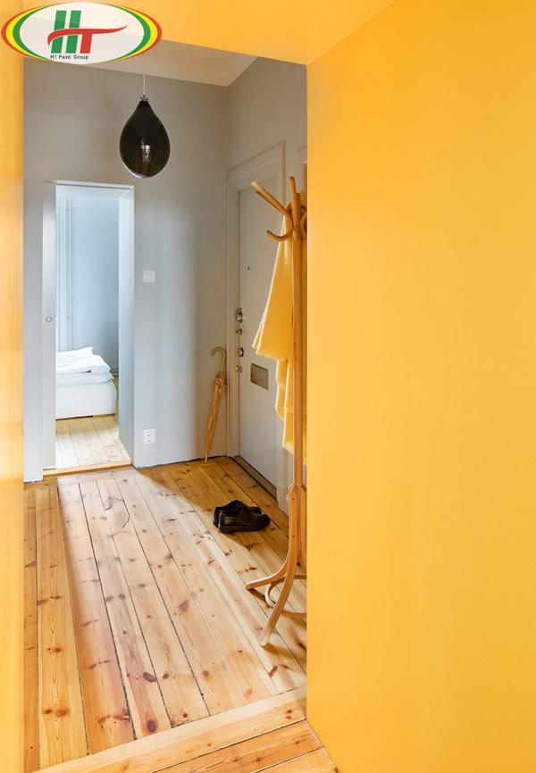 Ấn tượng với căn hộ trang trí nội thất màu vàng-6