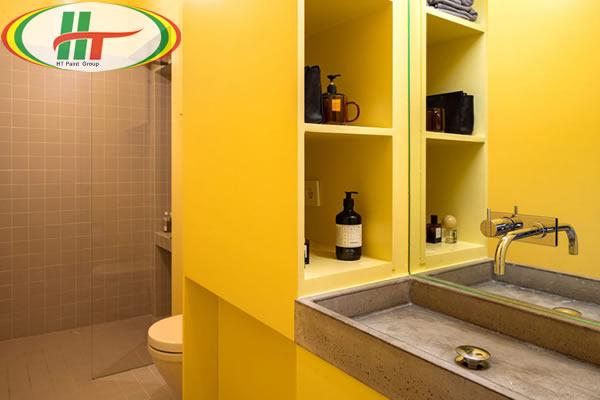 Ấn tượng với căn hộ trang trí nội thất màu vàng-7