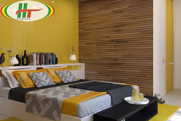 Sơn nội thất phòng ngủ màu vàng