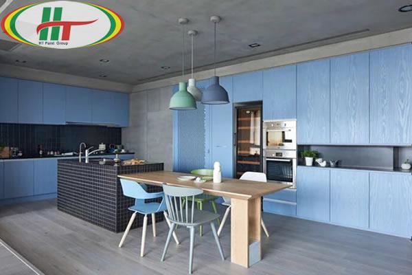 Chiêm ngưỡng không gian trang trí nội thất màu xanh dương-2