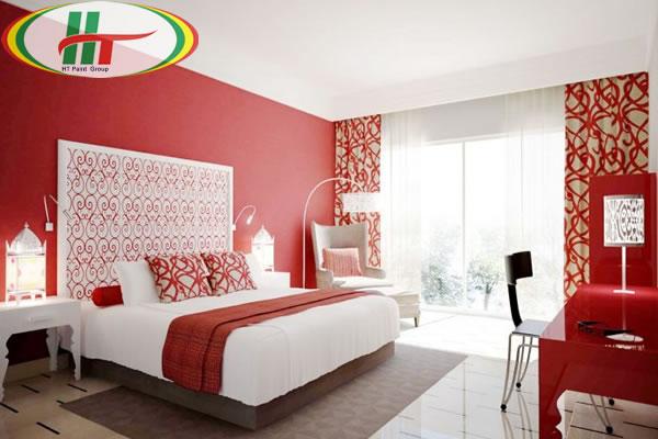Màu sơn nội thất phòng ngủ đẹp hợp người mệnh Hỏa