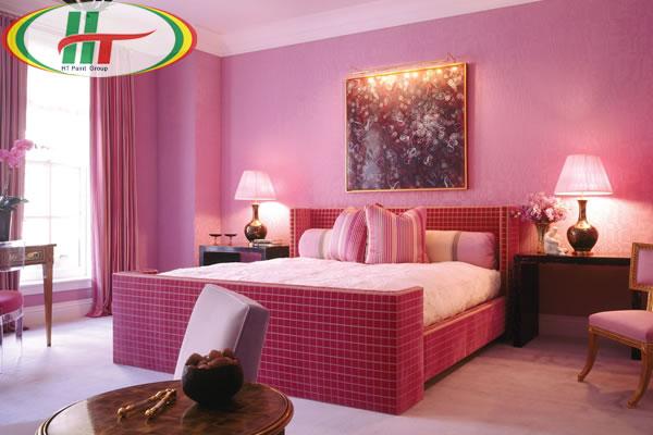 Mẫu phòng ngủ mầu hồng cho người mệnh Hỏa