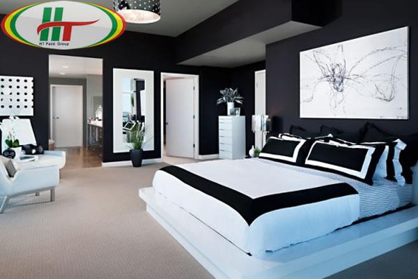 Màu sơn nội thất phòng ngủ đẹp cho người mệnh Thủy