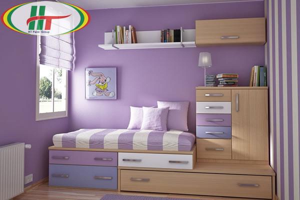 Khám phá màu sơn nội thất phòng ngủ được phái nữ ưa chuộng