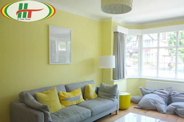 Màu xám và màu vàng pastel trong thiết kế nội thất