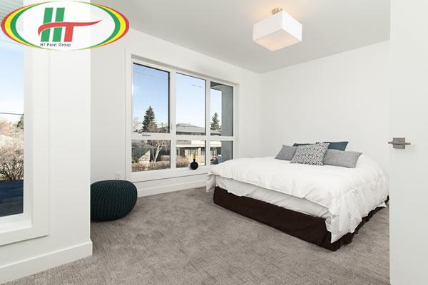 Phòng ngủ sơn màu trắng