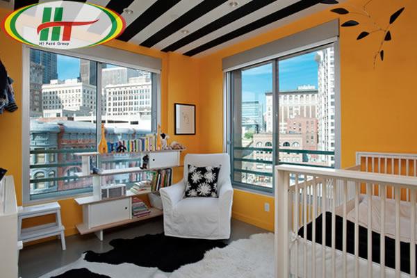 Sơn nhà màu vàng cam