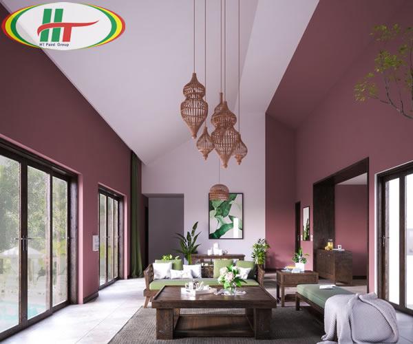 Ý tưởng sử dụng màu hồng trong phòng khách-5
