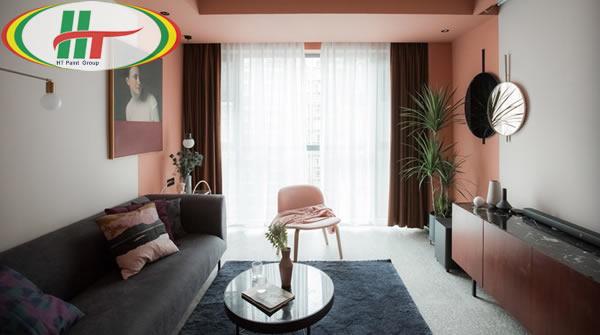 Ý tưởng sử dụng màu hồng trong phòng khách-9