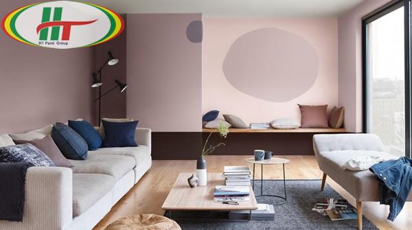 Ý tưởng sử dụng màu hồng trong phòng khách-11