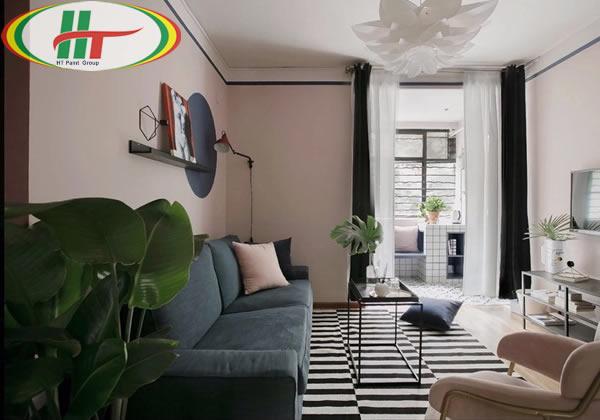 Ý tưởng sử dụng màu hồng trong phòng khách-12