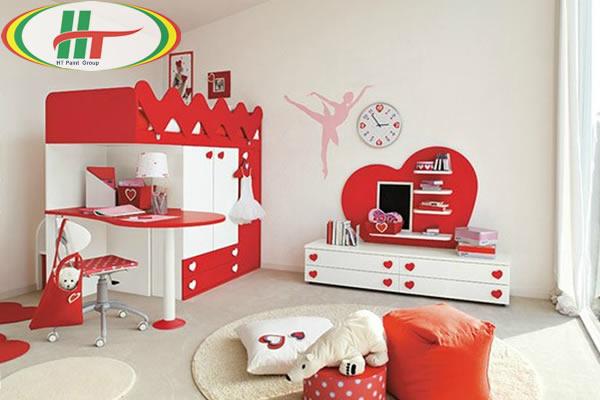 Phòng trẻ đẹp với ý tưởng kết hợp màu trắng với các đồ màu sắc rực rỡ khác-1