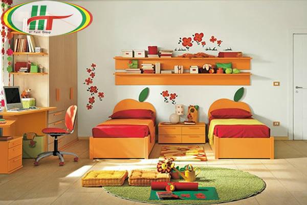 Phòng trẻ đẹp với ý tưởng kết hợp màu trắng với các đồ màu sắc rực rỡ khác-2