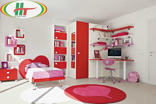 Phòng trẻ đẹp với ý tưởng kết hợp màu trắng với các đồ màu sắc rực rỡ khác-3