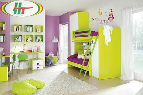 Phòng trẻ đẹp với ý tưởng kết hợp màu trắng với các đồ màu sắc rực rỡ khác-4