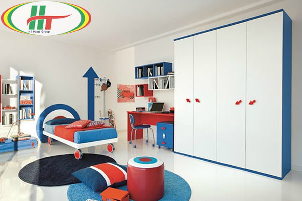 Phòng trẻ đẹp với ý tưởng kết hợp màu trắng với các đồ màu sắc rực rỡ khác-8