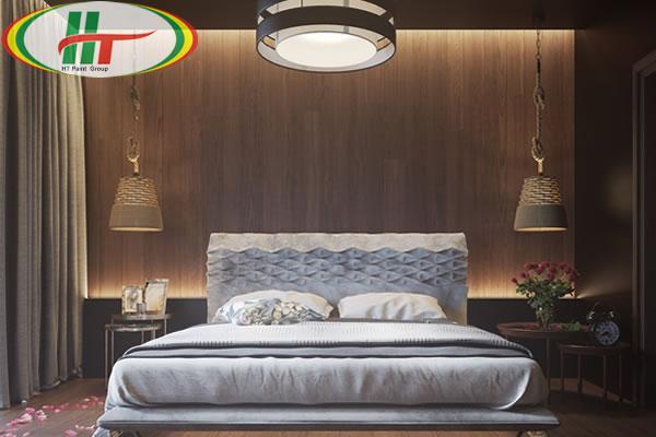 Mẫu phòng ngủ thiết kế ấn tượng nổi bật với tường bằng gỗ