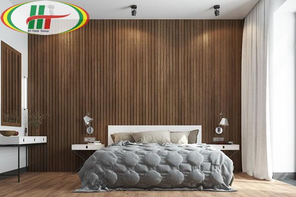 Mẫu phòng ngủ thiết kế ấn tượng nổi bật với tường bằng gỗ-2
