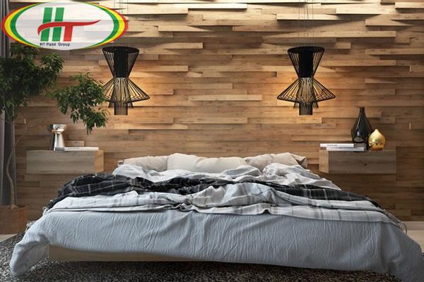 Mẫu phòng ngủ thiết kế ấn tượng nổi bật với tường bằng gỗ-5