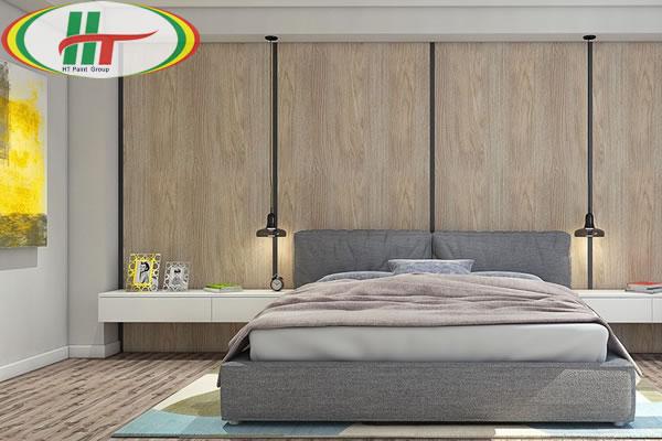 Mẫu phòng ngủ thiết kế ấn tượng nổi bật với tường bằng gỗ-7