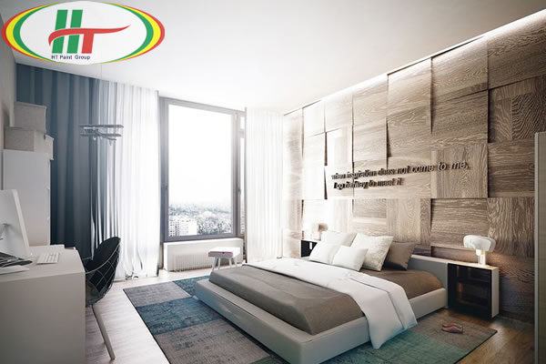 Mẫu phòng ngủ thiết kế ấn tượng nổi bật với tường bằng gỗ-10