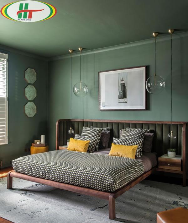 Những mẫu phòng ngủ màu xanh trang trí ấn tượng thu hút