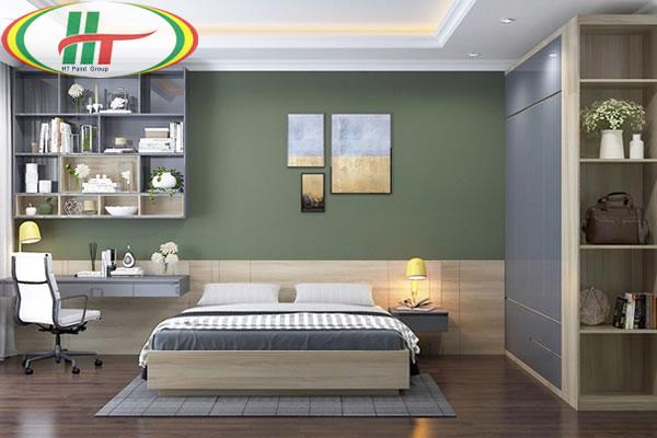 Những mẫu phòng ngủ màu xanh trang trí ấn tượng thu hút-1