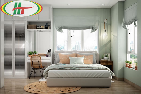 Những mẫu phòng ngủ màu xanh trang trí ấn tượng thu hút-8