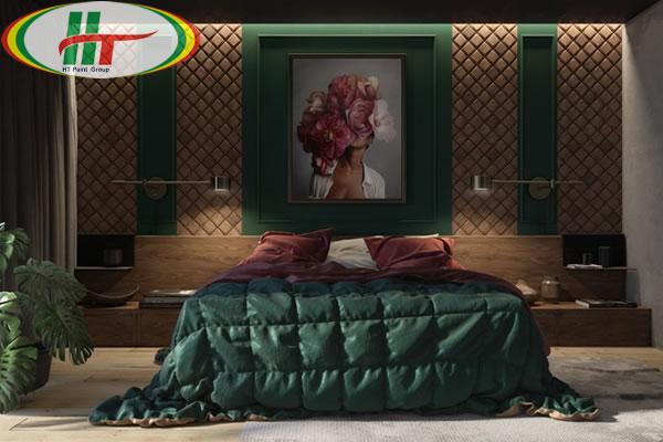 Những mẫu phòng ngủ màu xanh trang trí ấn tượng thu hút-10
