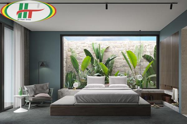 Những mẫu phòng ngủ màu xanh trang trí ấn tượng thu hút-12