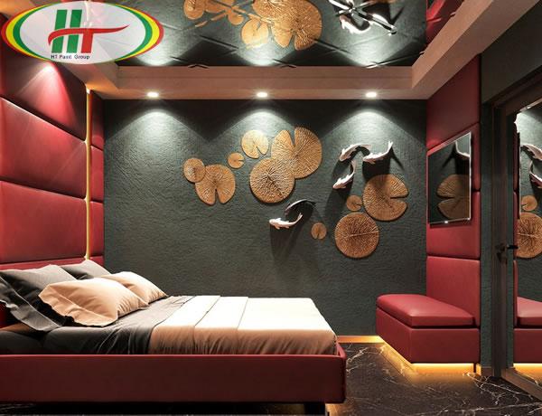 Những mẫu phòng ngủ trang trí nội thất màu đỏ ấn tượng-5