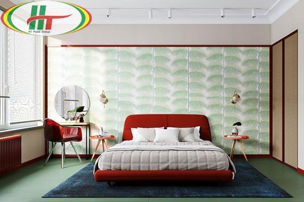 Những mẫu phòng ngủ trang trí nội thất màu đỏ ấn tượng-8